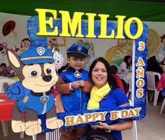 FIESTA PATRULLA CANINA 1st Boy Birthday, 3rd Birthday Parties, Paw Patrol Birthday Decorations, Party Fotos, Cumple Paw Patrol, Party Frame, Paw Patrol Party, Kid Party Favors, Diy Party