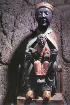 """/\ /\ . The Black Virgin of Meymac, 12thC France """"That the people regarded the Black Madonnas as African is proven by the epithets they were given. French and Italian Virgins were nicknamed 'The Egyptian' for centuries."""" http://www.interfaithmary.net/pages/blackmadonna.html"""