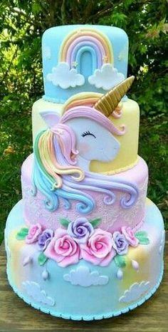 Cupcakes birthday cake kids new Ideas Cupcake Birthday Cake, Birthday Cake Girls, Unicorn Birthday Cakes, Birthday Kids, Unicorn Party, Birthday Cake Designs, Castle Birthday Cakes, Barbie Birthday Cake, Fat Unicorn
