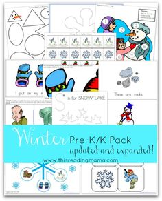 FREE Winter Pre-K/K Pack {Updated and Expanded} ~ contains TWO emergent readers with accompanying activities for younger preschoolers through K | This Reading Mama