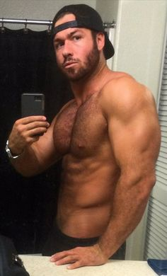 myselectedpics: The hot and deliciously hung,. Hairy Men, Bearded Men, Selfies, Chad White, College Guys, Normal Guys, Sexy Beard, Body Shaming, Athletic Body