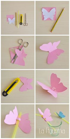 Here is my new photo tutorial for you, easy and quick z-Hier für Sie mein neues Foto-Tutorial, einfach und schnell zu erstellen! U … – derBilder Here is my new photo tutorial, easy and quick to create! Butterfly Wall Art, Paper Butterflies, Butterfly Crafts, Flower Crafts, Paper Flowers, Butterfly Decorations, Kids Crafts, Diy And Crafts, Diy Paper