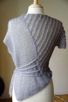 Ravelry: Vogue Knitting Lace Top in TIlli Slate Symphony pattern by Irina Poludnenko