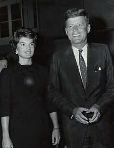 Senator Kennedy and his wife Jacqueline.