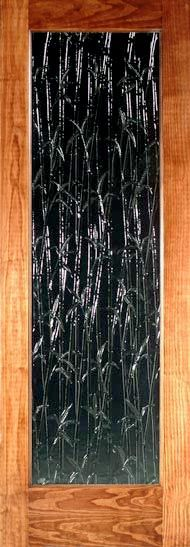Bamboo textured glass interior doors, glass doors...luv this too