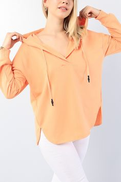 Somon Yaka Detay Kapüşonlu Bayan Sweat 75598 | ModamızBir | Modamizbir.Com
