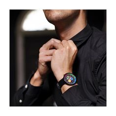 A modern British-designed men's chronograph watch inspired by the frenetic energy and vibrancy of Shanghai. A brushed black case holds contemporary clashing colour subdials, Latest Watches, Watches For Men, Black Watches, Leather Watches, Men's Watches, Morse Code Bracelet, 3d Printed Jewelry, Black Italians, British Style