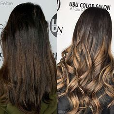 Before and after beautiful Hand painted Balayage by @hairbyjazzmynngrace  Call to book a free consultation. 813.801.9700 using @olaplex in @redken5thave @magiclightener @redkenofficial #fallhair #fallhaircolor #women #balayage #ombrehair #hair #haircut #olaplex #olaplexlove #yelp #tampahair #naturalhair #blonde