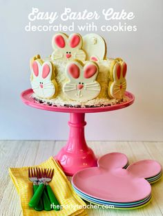 Easy Easter Cake Decorated with Cookies by The Party Teacher Easter Cake Easy, Teacher Party, Buy Cake, Childrens Party, Baby Shower Cakes, Party Cakes, Cake Decorating, Cookies, Posts