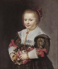 Jan Anthonisz van Ravesteyn (attr.) Portrait of a Girl of the Van Paffenrode family, 1629   Rijksdienst voor het Cultureel Erfgoed (C329)