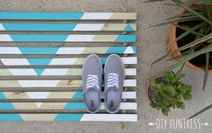 Welcome to The Home Depot's DIY Workshop Virtual Party! Today is the day that I finally get to show you guys my spin on that super cool wooden door mat DIY that I spoke about in last week&#82…