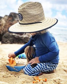 """GromSquad™ Kids Hats on Instagram  """"💙 these summer days 💙 📷    adventures of ari . . . . . .  summerhat  gslifeguardhat  lifeguardhat   staycovered ... 2423a354469"""