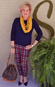 Fashion over 40. Plaid pants