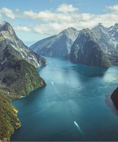 """Milford Sound, New Zealand (@newzealandguide) on Instagram: """"Flying high over Milford Sound @craigjcampbell"""""""