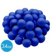 """Royal Blue Gumballs 34 oz - Party City  Add a sweet touch to your party with our Royal Blue Gumballs! These fancy Royal Blue Gumballs look great set out in bowls on the table for guests to grab and make a fantastic addition to a candy buffet. Each container includes 34 oz of gluten-free raspberry flavored gumballs. Each gumball is approximately 1"""" in diameter. $12.99"""
