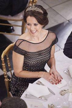 Crown Princess Mary of Denmark  Debuts a new tiara at Gala dinner