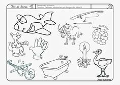 Resultado de imagen para laminas para pintar sobre seres vivos e inertes para preescolar
