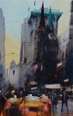 watercolor painting by Alvaro Castagnet. Workshop July 19 - 25, 2015