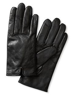 Notched Leather Glove | Banana Republic