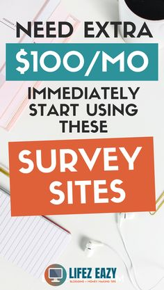 Here is a collection of 6 survey sites that pay through PayPal. If you start using these survey sites, you can easily make at least $100/month. I am already getting paid, you can too. #surveysitesthatpay #surveysites #makemoneyonline Online Surveys That Pay, Survey Sites That Pay, Surveys For Money, Online Jobs, Make Cash Fast, Make Money Now, Earn Money From Home, Earn Money Online, Ghostwriter