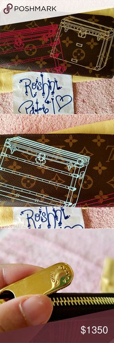 Louis Vuitton Trunks Zippy Full Size Wallet Limited Edition Louis Vuitton Trunks Christmas Animation Zippy Full Size Wallet  Brand new! Never used! No chipping on the artwork.   Trunks artwork on the exterior to commerate how LV came about in the first place. 1 main zipper. Pink striped candy cane interior. 8 CC slots. 2 bill slots. 4 misc slots. 1 interior zipper coin pocket.   Includes: wallet, dustbag, box, receipt Louis Vuitton Bags Wallets