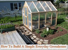 How To Build A Simple Everyday Greenhouse http://bepasgarden.blogspot.co.uk/2011/03/building-greenhouse.html