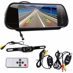 """77.71$  Watch here - http://aligrs.worldwells.pw/go.php?t=32764612993 - """"7"""""""" LCD Mirror Monitor+Wireless Car Reverse Rear View Backup Camera Night Vision@31108"""""""