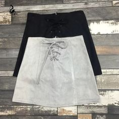 It doesn't get much better than this unique, buttery soft mini skirt. Features include 100% Premium Vegan leather suede, a lace up front closure and a sexy yet flirty short hemline. Gender: Women Wais