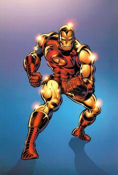 Iron Man by Bob Layton Marvel Comics Superheroes, Hq Marvel, Marvel Comic Universe, Dc Comics Art, Marvel Heroes, Iron Man 2008, Iron Man Art, Empire Characters, Comic Book Characters