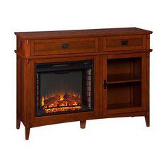 Harper Blvd Bayard Espresso Electric Fireplace by Harper Blvd ...