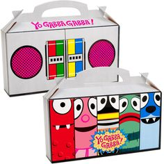 Gabba boom box favor boxes. Katie is going to looooove these'