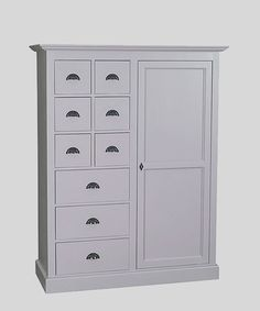 Our new solid wood Petit Breton cupboard wardrobe has a multitude of potential uses - with a total of nine drawers and three fixed shelves behind a