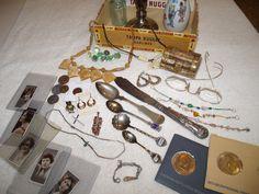 Cigar Box of Antique Treasures & Goodies