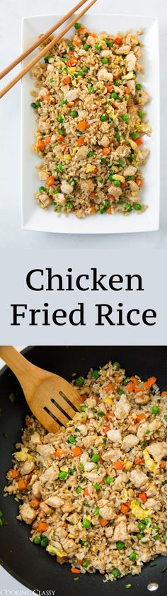 Chicken Fried Rice - one of my go-to weeknight dinners! Fast and delicious!