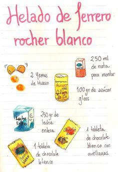 Helado de Ferrero Rocher blanco