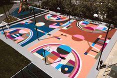 Meet Dan Peterson of Project Backboard in Orange County - Voyage LA Magazine Playground Design, Outdoor Playground, Graffiti Wall Art, Mural Art, Outdoor Basketball Court, Parks Department, Sport Park, Hospitality Design, Public Art