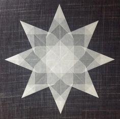 Weißer Stern - 8 Zacken - Transparentpapier
