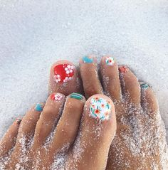 Perfect Nails, Gorgeous Nails, Pretty Nails, Cute Toe Nails, Toe Nail Art, Pedicure Nails, Gel Nails, Toenails, Manicure