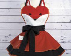 Fox Apron Womens Woodland FairyTale Apron ready to by dottiesdiner
