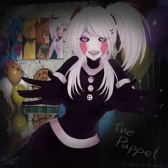The Puppet - Five Nights In Anime 2 [SpeedPaint] by RenAyume Five Nights At Freddy's, Five Nights At Anime, Anime Fnaf, Anime Comics, Anime Art, Fnaf Drawings, Cool Drawings, Marionette Fnaf, Hyanna Natsu