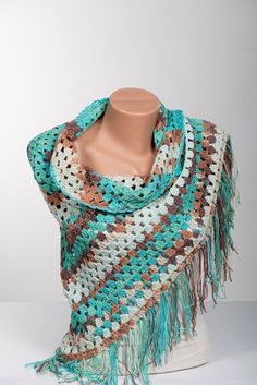 Cotton Crochet Shawl. Summer shawl.  Summer accessories. Women cotton wrap. Bohemian beach wrap. by scarfstore2012 on Etsy https://www.etsy.com/listing/204191368/cotton-crochet-shawl-summer-shawl-summer