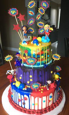 Girls Superhero Birthday cake!