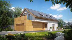 Prosta bryła domu o nieskomplikowanej konstrukcji przykryta dwuspadowym dachem pozwoli na szybką i niedrogą budowę oraz późniejszą eksploatację.