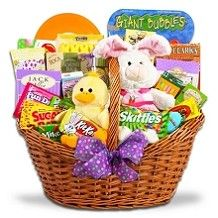 Fill a basket with Easter candy favorites for a sweet table centerpiece or kid's basket!
