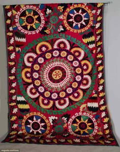 Augusta Auctions, April 17, 2013 - NYC: Suzani Tent Hanging, Uzbekistan, Mid 20th C