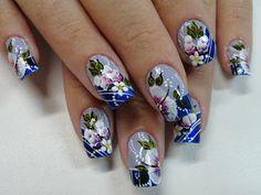 """Van Moura Arte nas Mãos"": Minhas obras! Hot Pink Nails, Blue Nails, 3d Nail Art, Easy Nail Art, Tiny Baby Animals, Nail Candy, Flower Nail Art, Nail Art Designs, Floral"
