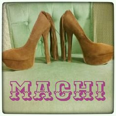 Vtg Machi Tan Brown Fringe Platform Heels Very southwestern, very Machi! Used only once or twice to try on. Long all the way to the floor fringe covers the heel! Size 5 1/2. Unique platform heel, dont miss. Machi Shoes Platforms