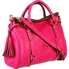 Love the pink.  Think it would be a pretty color for spring.  Love the slouch on the top of the bag.  Dooney