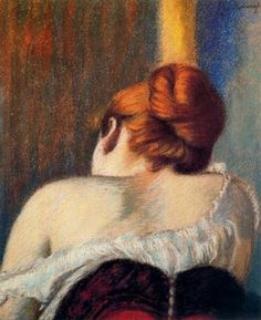 "Federico Zandomeneghi, ""Femme en corset"" - 1900 on ArtStack #federico-zandomeneghi #art"