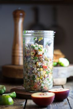 Peach & Hatch Chile, Shrimp Ceviche Tostadas - The Urban Poser Easy Lunches For Work, Easy Work, Low Glycemic Index Foods, Shrimp Ceviche, Summer Treats, Tostadas, Fish And Seafood, Dairy Free, Clean Eating